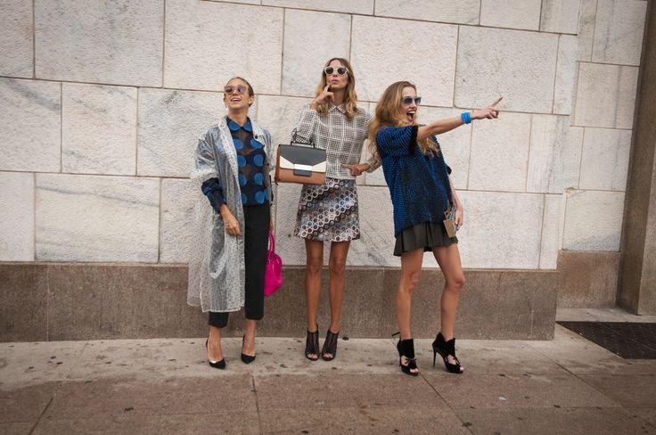 Female Fashion Week SS15 - people @ Marco De Vincenzo show