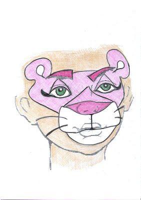Disfraz casero de Pantera Rosa con maquillaje