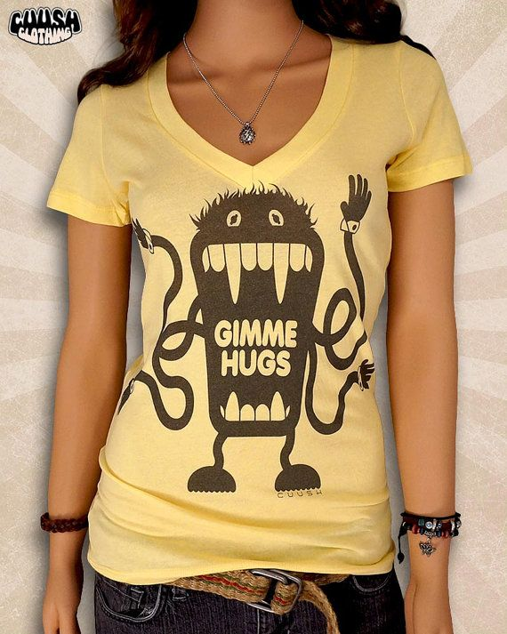 Free Hugs Shirt  Hug Me T Shirt  Gimme Hugs Monster T Shirt