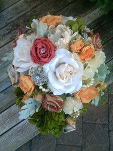 Wedding Bouquet http://sakurahsflowerstudio.wordpress.com/2014/10/12/rustic-and-vintage-wedding-flowers/