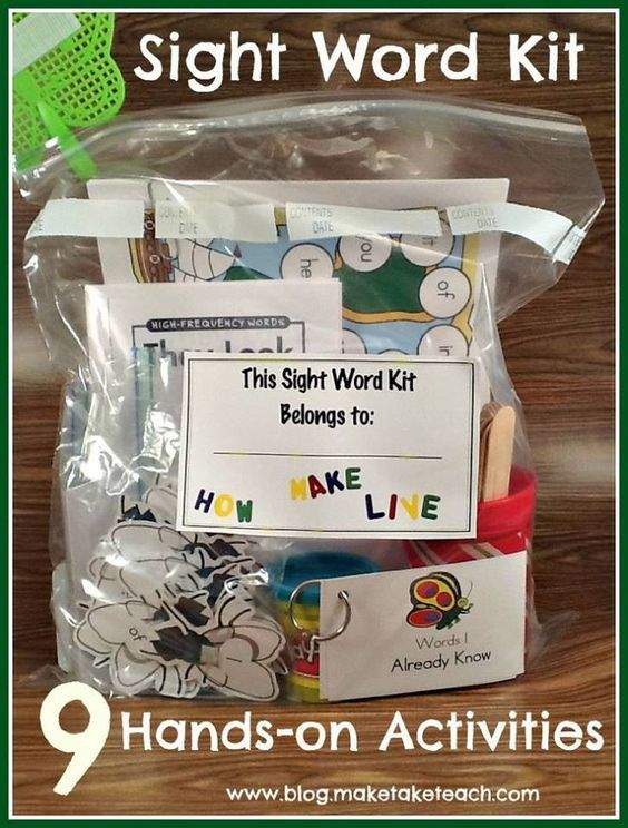 9 #Activities for #Teaching #SightWords. #Free #printables http://blog.maketaketeach.com/teaching-sight-words/