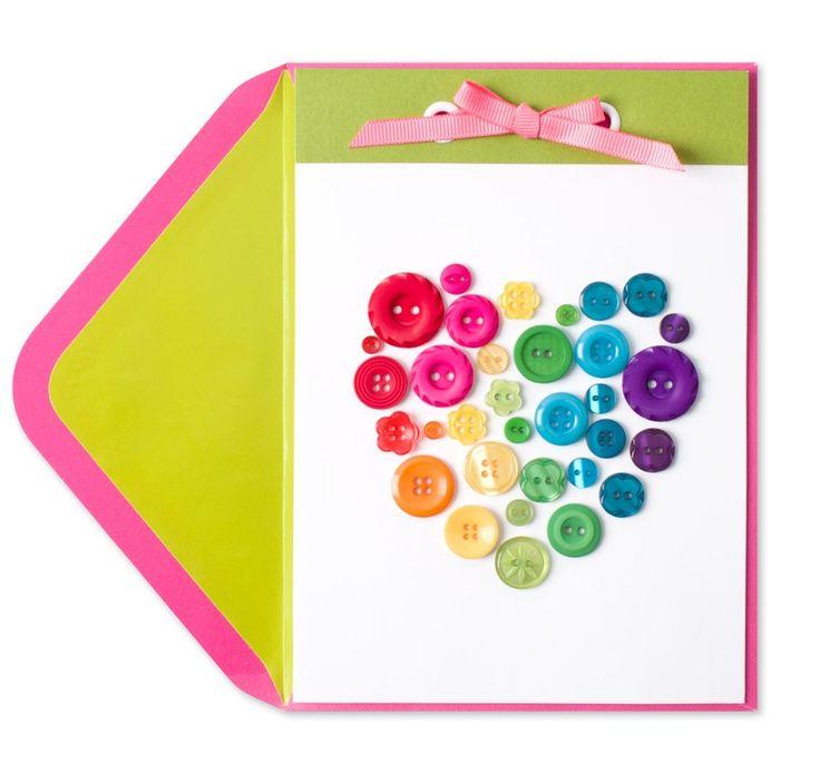 Rainbow Button Heart Price $7.95