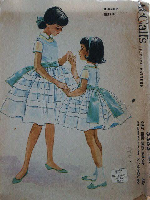 Vintage 60s McCall's Child Girl Sheer Full by LadyJanetvintage