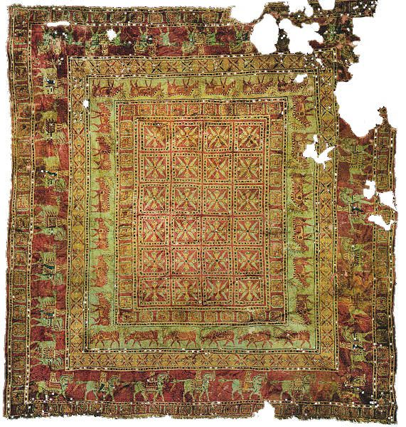 The oldest surviving carpet is the celebrated #Pazyryk carpet, which is over 2,000 years old. It was found in the 1940s in a Scythian tomb in southern #Siberia