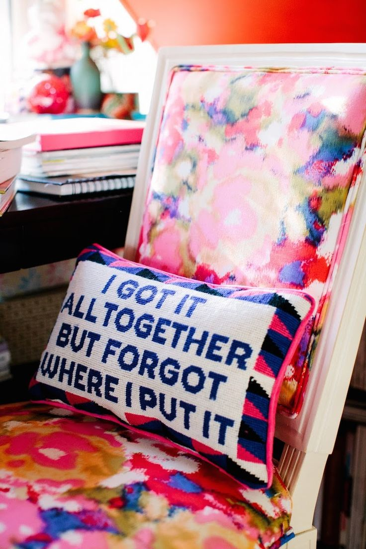 i got it all together needlepoint pillow vintage saying