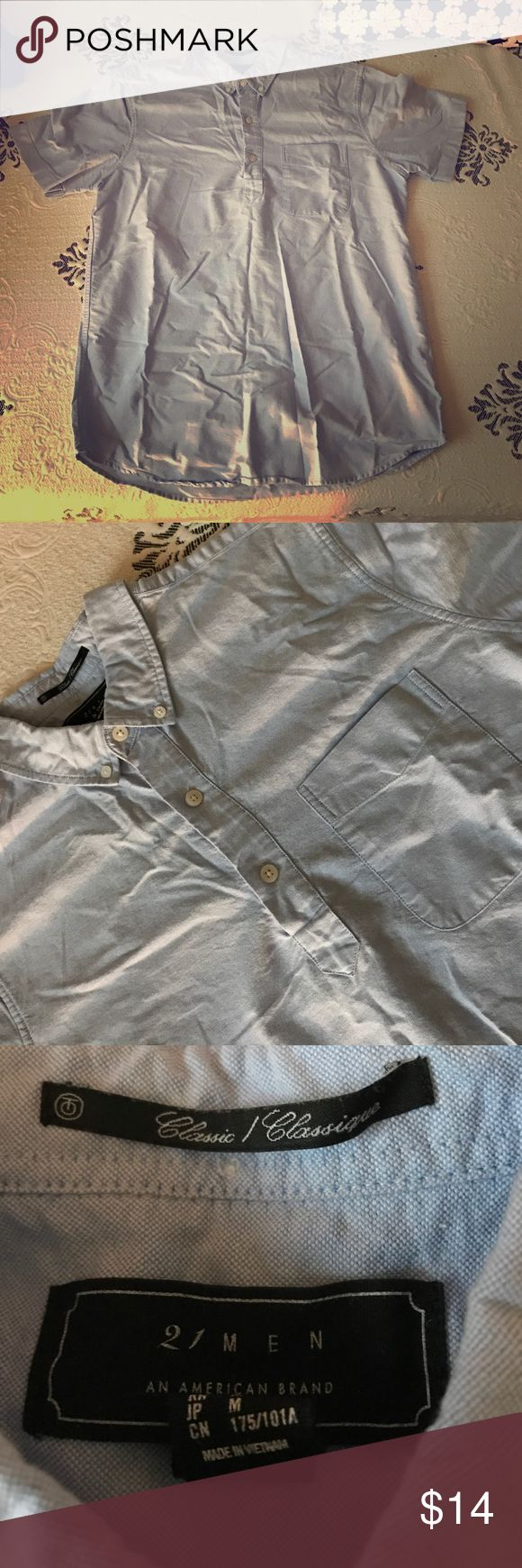 Forever 21 men's button down tee Price negotiable 21men Shirts Casual Button Down Shirts