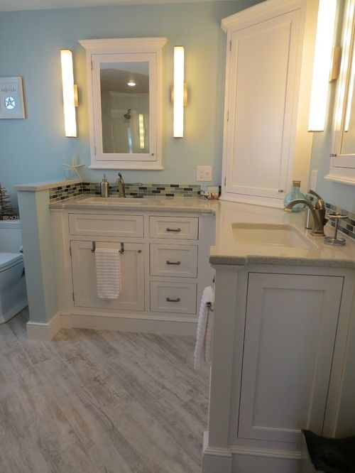 L Shaped Vanity Bathroom Design Ideas, Pictures, Remodel & Decor