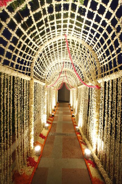floral jaal, floral entrance, floral rangoli, entrance decor