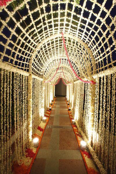 floral jaal, floral entrance, floral rangoli, entrance decor