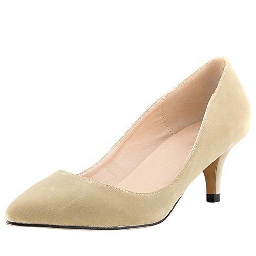 Oferta: 20.71€ Dto: -31%. Comprar Ofertas de OCHENTA Mujer de imitacion de terciopelo clasico Bajo Zapatos de tacon de la aguja Albaricoque 42 barato. ¡Mira las ofertas!