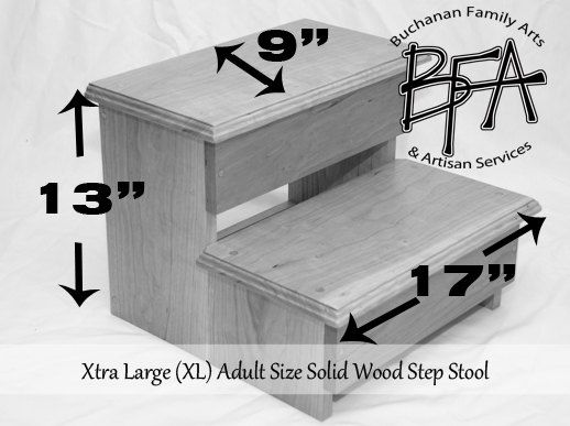 XL Adult Size Step Stool Poplar Solid by BuchananFamilyArts  sc 1 st  Pinterest & Best 25+ Modern kids step stools ideas on Pinterest | Modern kids ... islam-shia.org