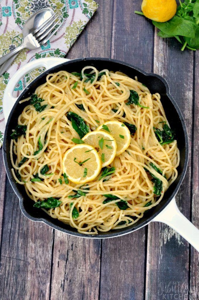 Italian lemon garlic pasta recipe