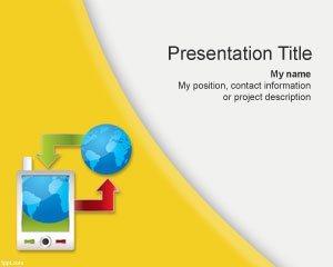 Mobility, this free powerpoint template design is perfect for smart phone or data exchange communication presentation. to view more free powerpoint templates go to fppt.com.