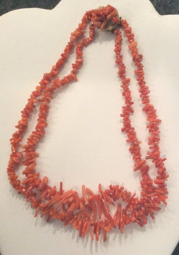 BRILLIANT CORAL NACKLACE ! Cabochon Gemstone Red Coral Smooth Necklace.. 100/% Natural Italian Red Coral Handmade Necklace