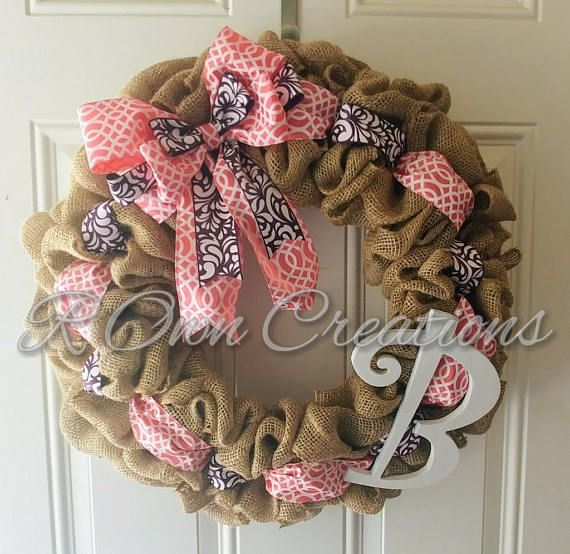 Check out this item in my Etsy shop https://www.etsy.com/listing/514737196/burlap-initial-wreath
