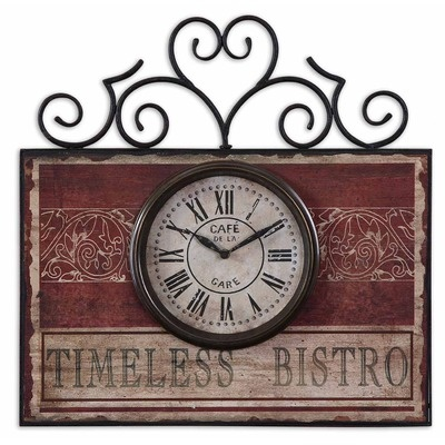 Uttermost Vintage License Plates Clock   Wayfair