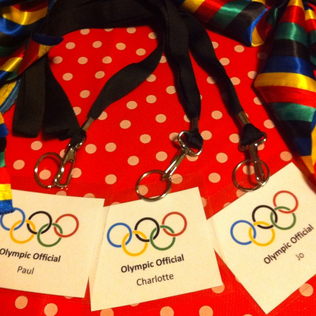Grown ups ID badges for Olympic party
