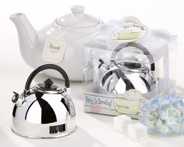 """Kate Aspen """"""""It's About Time - Baby is Brewing"""" Teapot Timer """" - http://www.weddingfavoursaustralia.com.au/products/its-about-time-baby-is-brewing-teapot-timer"""