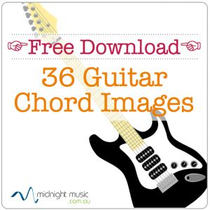 Free download: 36 guitar chord images for music teachers.  Use them in your leadsheets, worksheets, quizzes, presentations and IWB software. http://www.midnightmusic.com.au/2013/08/free-guitar-chord-image-library/