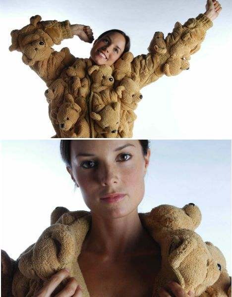 """The Bear Fur coat is part of what Errazuriz calls hi 'Duchamp series'. """"Teddy-bear-fur coat is an homage to the Campana Brothers and a wink at the 80s eco-friendly fur campaign that seems to be poignant today considering the comeback of furs in fashion runways."""""""