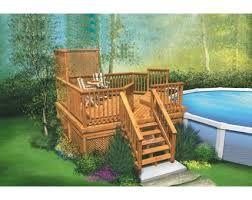 Résultats de recherche d'images pour «patio piscine hors terre plan»