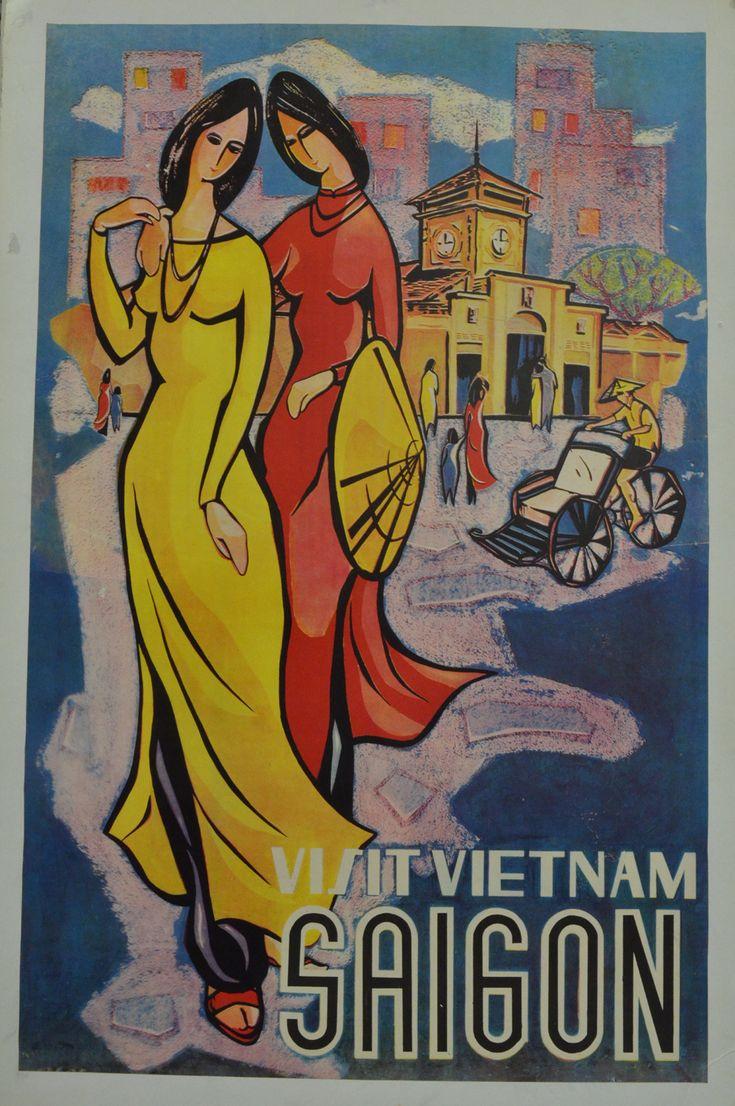 Visit Vietnam *Saigon #tourism #poster (1960s)