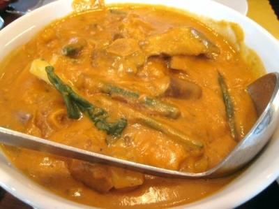 KARE-KARE - Kare-kare is a rich and meaty Filipino stew of oxtails, green beans and eggplant in a sauce thickened with peanut butter. Served on special occasions or as a Sunday meal, kare-kare is always accompanied by white rice and a bit of sautéed shrimp paste called bagoong alamang.