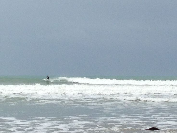 Braving the rain for some pretty awesome surf at Middleton Beach