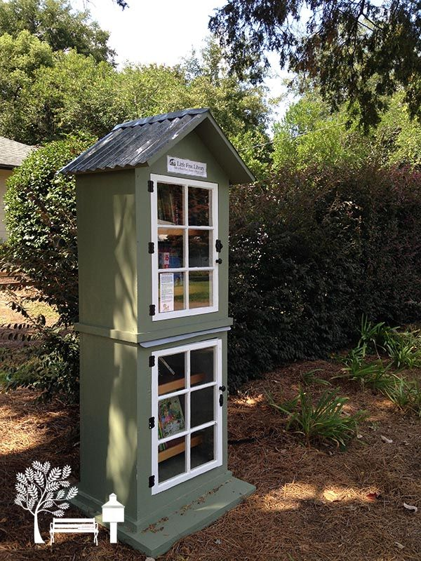 Beautiful two-story #LittleFreeLibrary in Tallahassee, Florida!