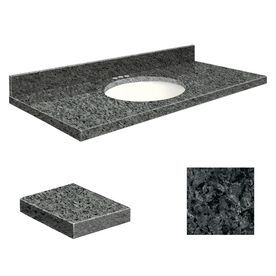Transolid Blue Pearl Granite Undermount Single Sink Bathroom Vanity To