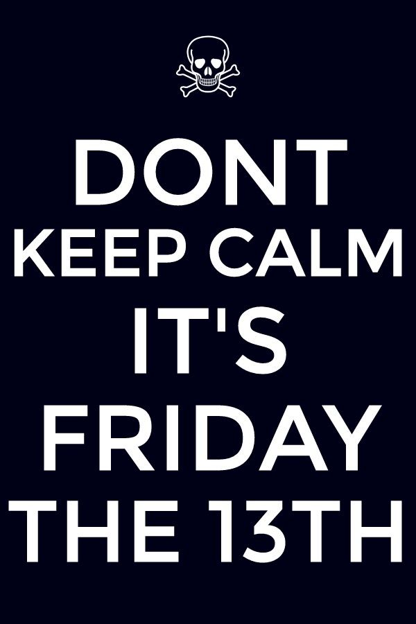 Quotes About Friday The 13th: 17 Best Images About Friday The 13th On Pinterest