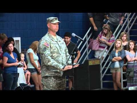 The 514th MP's of the NCNG held a deployment ceremony today in Winterville, NC at Pitt Community College.