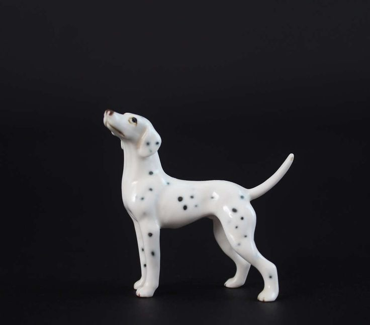 Vintage Miniature Dalmatian Figurine - Shiken Japan Bone China Dog Figurine by Suite22 on Etsy