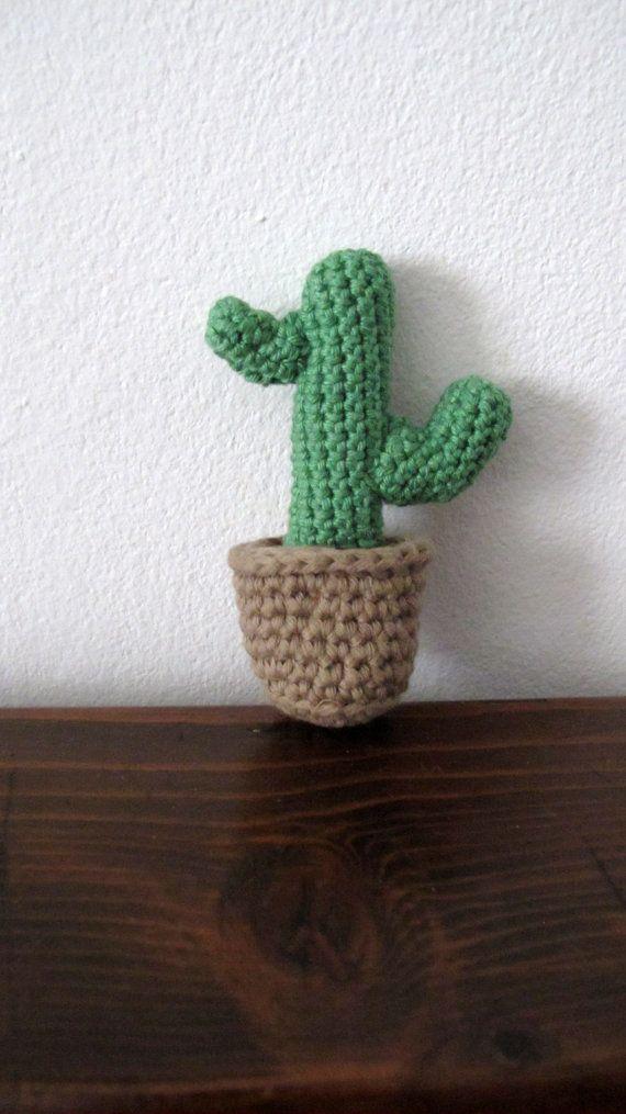 Brooch.Amigurumi cactus brooch by giovannacargnelli on Etsy