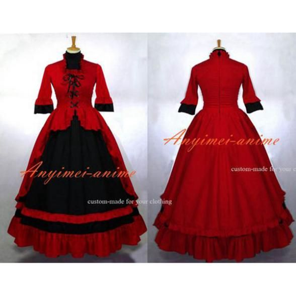 >> Click to Buy << Free Shipping Victoria Rococo Medieval Gown Gothic Lolita Punk Ball Dress Cosplay Costume Custom-made #Affiliate