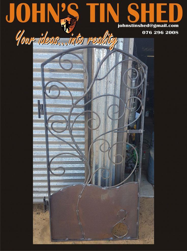 Decorative wrought iron gate
