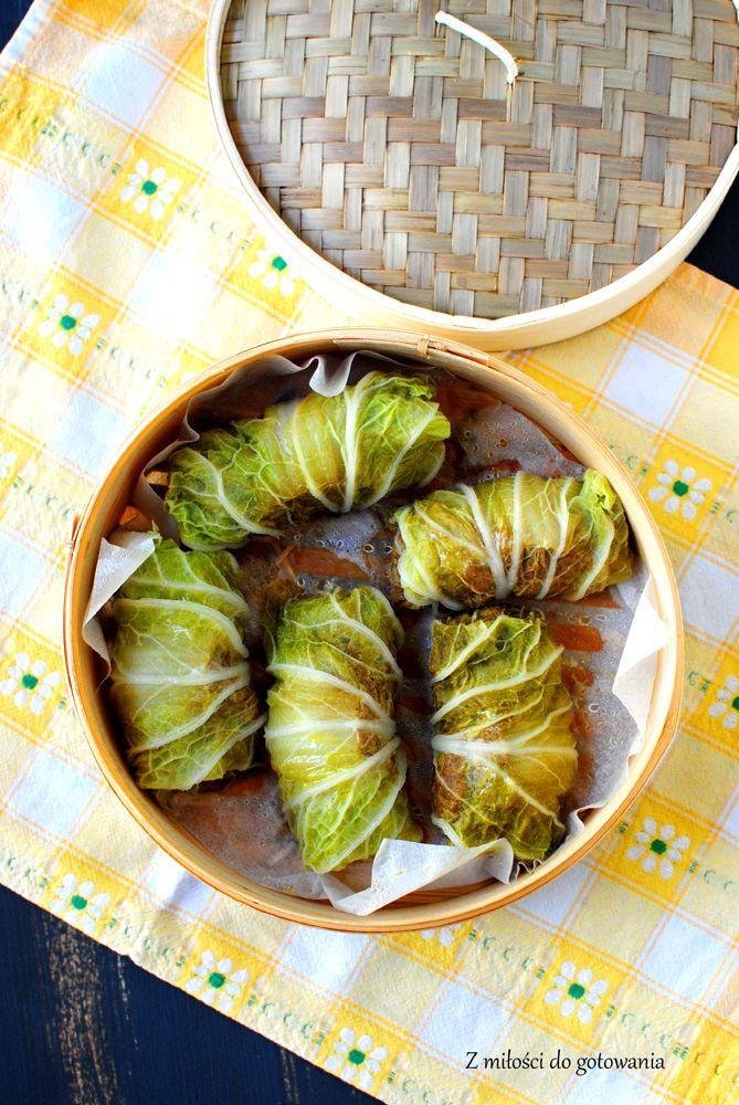 Gotowane na parze orientalne gołabki