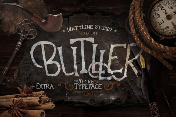 Butller + Extra by Dirtyline Studio on Creative Market