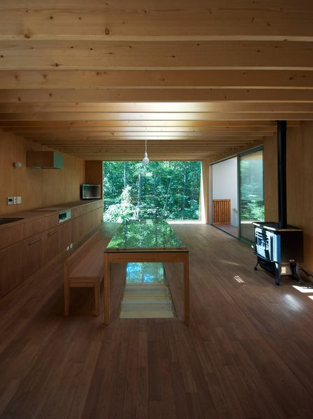 there's a space saving thought...put the stairs under the table!  :) The upper floor of a Tokyo house designed by Go Hasegawa is sparsely decorated, and the height of the room is just under six feet. Becaus...