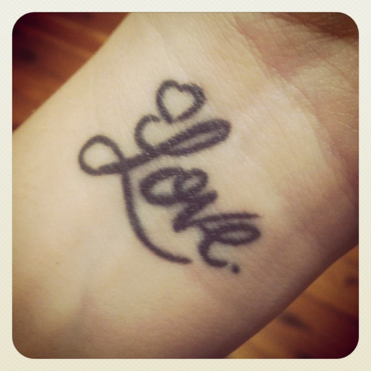 My love wrist tattoo @jessiedreams