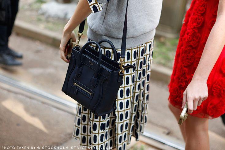 navy blue mini bag :: Nano Luggage by #Celine   love to carry ...