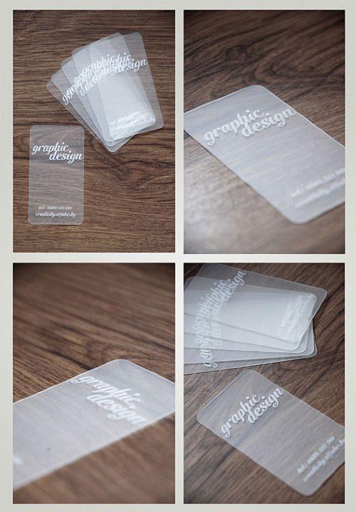 Transparent business cards Your Calgary marketing company http://arcreactions.com/transparent-plastic-business-cards-2