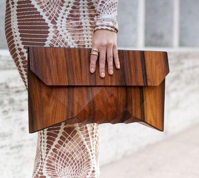 AHHH!  Wooden Bags by Tesler + Mendelovitch