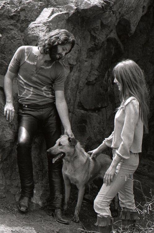 Jim Morrison, Pam Courson & Sage At Bronson Caves (1969)