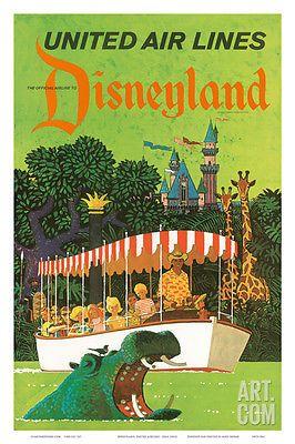 United Airlines Disneyland, Anaheim, California, 1960s Art Print by Stan Gall...