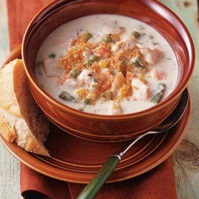 Creamy #SlowCooker #Chicken Chowder #recipe