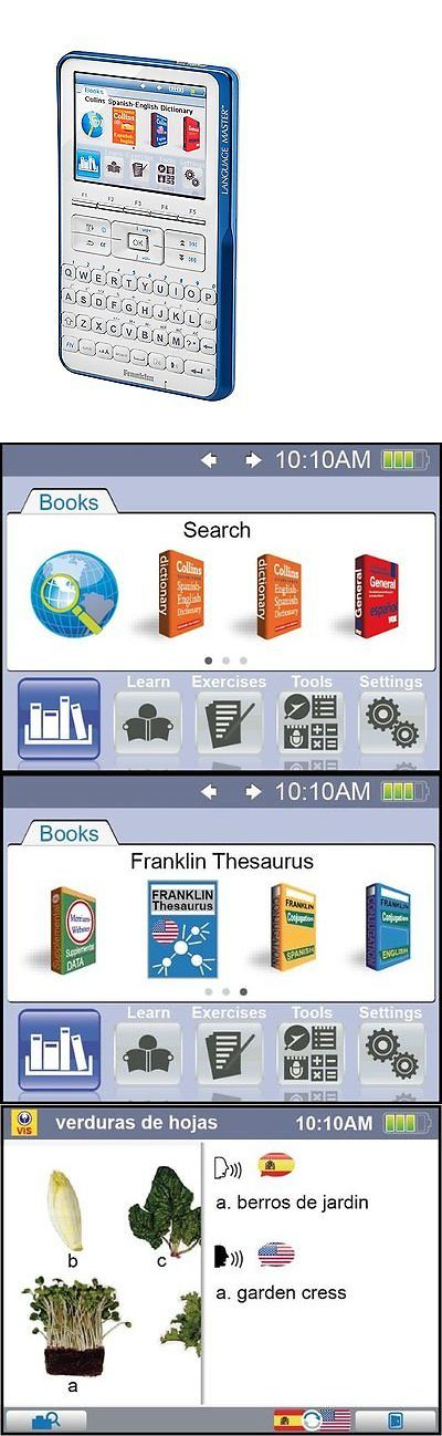 Dictionaries and Translators: Franklin Gran Maestro Speaking Spanish English Dictionary Thesaurus Translator BUY IT NOW ONLY: $52.12