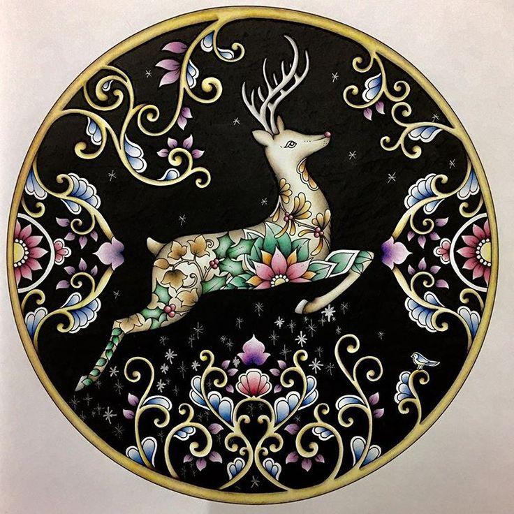 こんなんはまってます #ぬり絵 #大人の塗り絵 #ジョハンナからの贈り物 #johannabasford