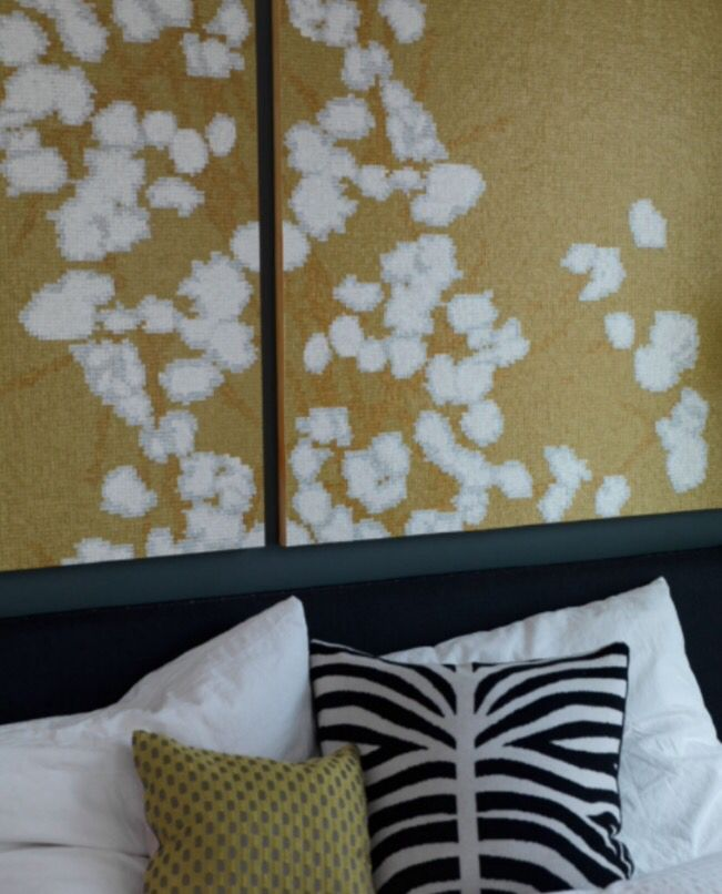 "This wallpaper decoration idea is from our feature ""Truly Trudy"""