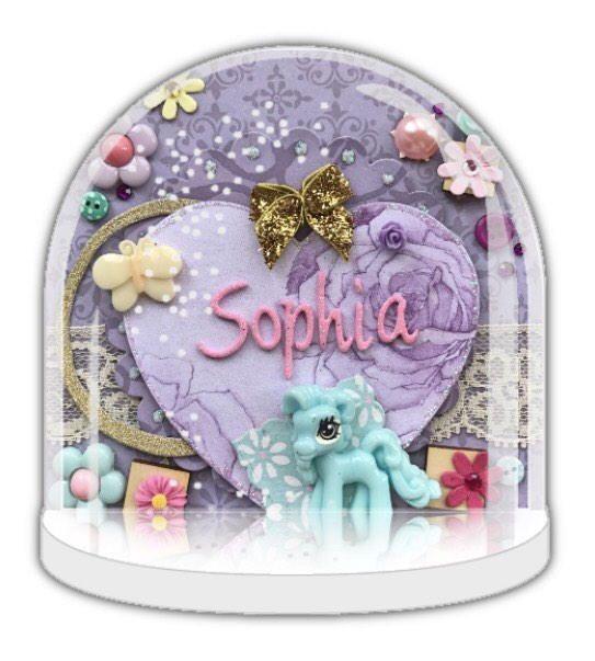 Unicorn snow globe, unicorn gift, Personalised snow globe, unicorn birthday, christening gift, unicorn baby shower, unicorn 1st birthday